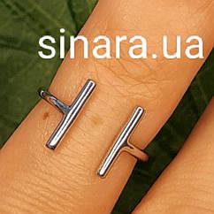 Кольцо на фалангу Эрме серебряное  - Фаланговое серебряное кольцо