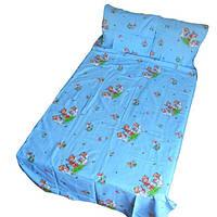 Постільна білизна дитяче ліжечко Gold ангели на блакитному