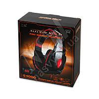 Наушники игровые KOTION EACH G4000 с гарнитурой, красные 3,5