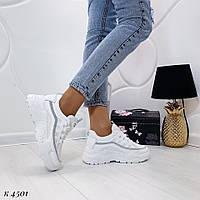 Стильные женские кроссовки белые, фото 1