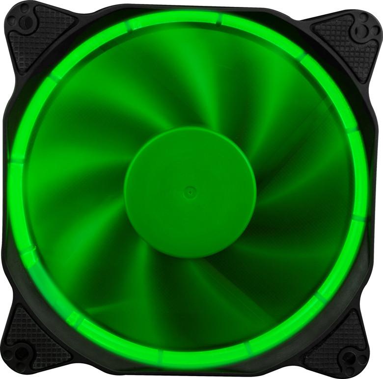 Вентилятор 1stPlayer Firering Green; 120х120х25мм, 3-pin+4-pin