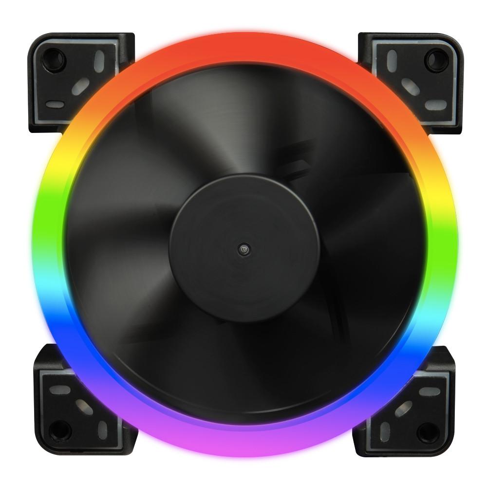 Вентилятор 1stPlayer Firemoon Dual Ring RGB Combo; 3х120мм, 5pin