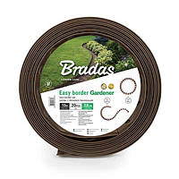Бордюр газонний з кілками - 10 м. (коричневий)