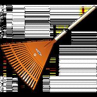 Грабли веерные - 20 зубцов, черенок деревянный