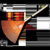 Грабли веерные - 22 зубца, черенок деревянный