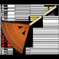 Грабли веерные - 27 зубцов, черенок деревянный