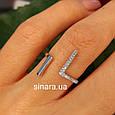 Серебряное кольцо минимализм  - Брендовое кольцо Ассиметрии серебро 925, фото 3