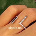 Серебряное кольцо минимализм  - Брендовое кольцо Ассиметрии серебро 925, фото 2