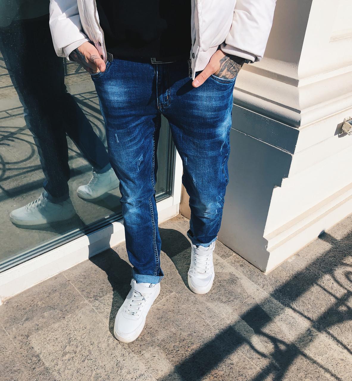 062a262786011 ... 8005 Resalsa джинсы мужские молодежные с царапками весенние стрейчевые  (27-33, ...