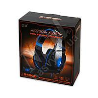 Наушники игровые KOTION EACH G4000 с гарнитурой, голубые 3,5