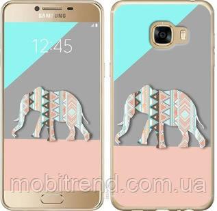 Чехол на Samsung Galaxy C5 C5000 Узорчатый слон