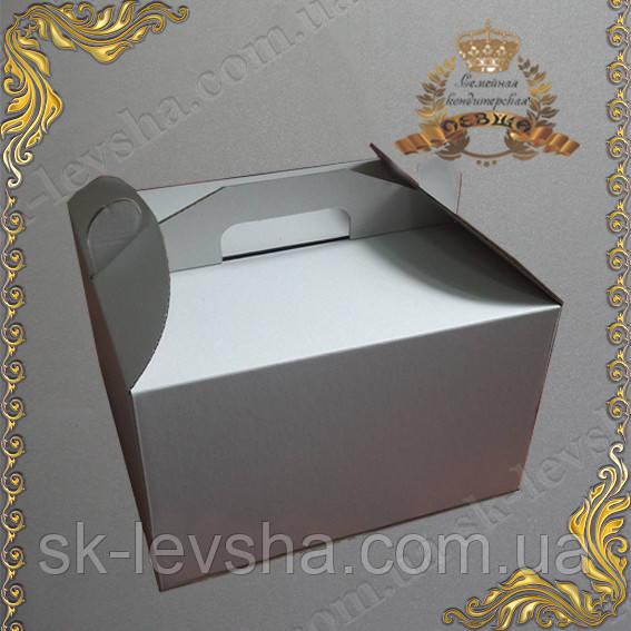 Коробка для торта 350*350*350 без окна, с ручкой
