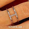 Брендовое серебряное кольцо APM Monako - Женское кольцо серебро минимализм, фото 3