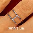 Брендовое серебряное кольцо APM Monako - Женское кольцо серебро минимализм, фото 5
