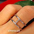 Брендовое серебряное кольцо APM Monako - Женское кольцо серебро минимализм, фото 2