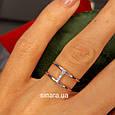Брендовое серебряное кольцо APM Monako - Женское кольцо серебро минимализм, фото 4