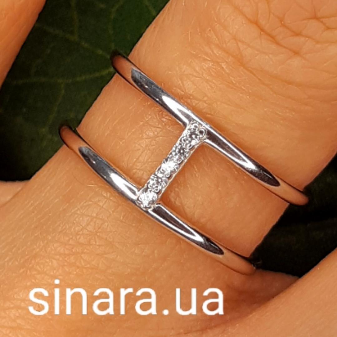 Брендовое серебряное кольцо APM Monako - Женское кольцо серебро минимализм