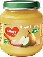 Пюре Milupa Яблоко-груша 125г, с 6мес