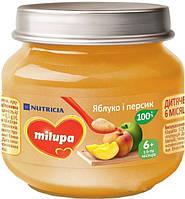 Пюре Milupa Яблоко-персик 100г, с 6мес