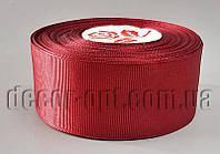 Лента репсовая оттенок темно-вишневого 4 см 25 ярд арт.048