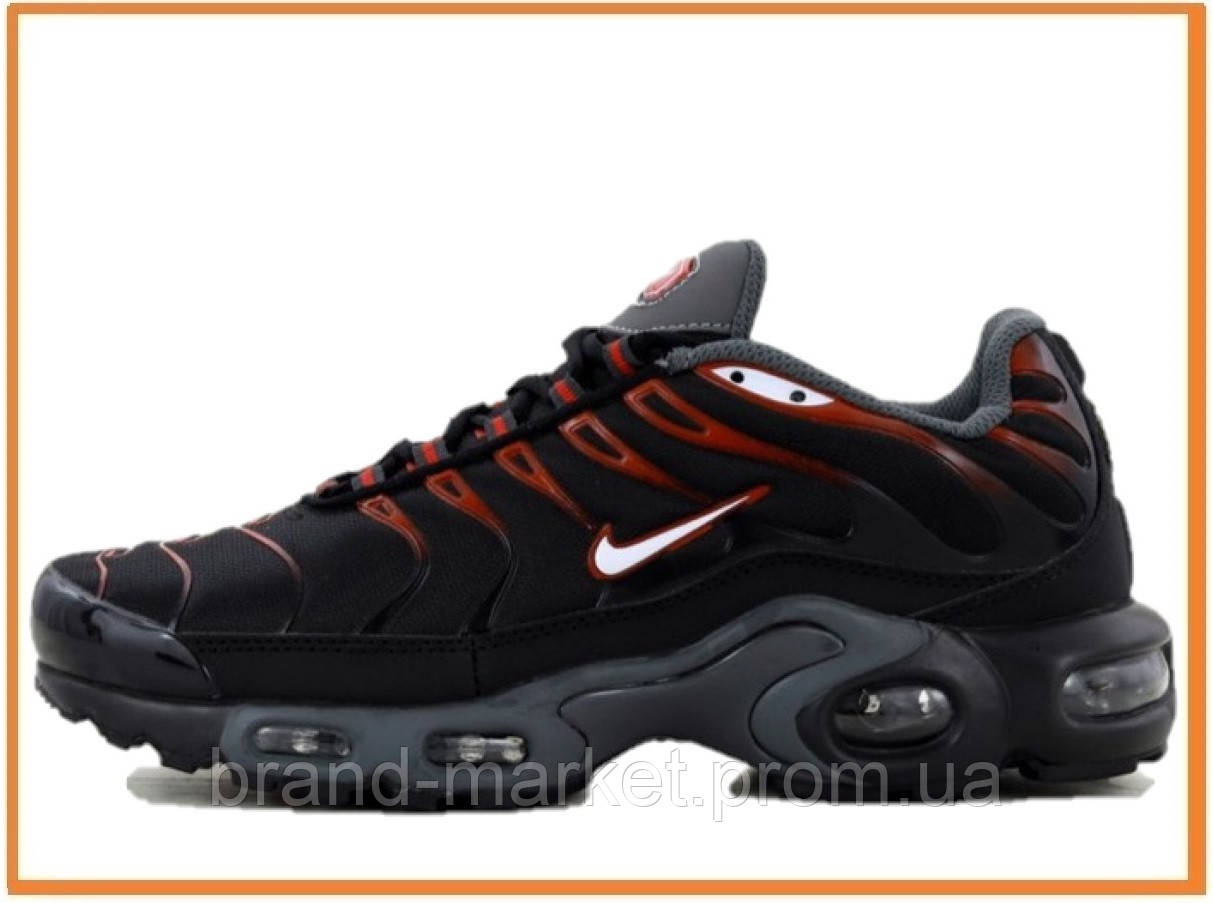 07b341b0 Мужские кроссовки Nike Air Max Plus TN Black Grey Red (найк аир макс тн плюс