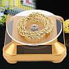 Вращающаяся подставка на солнечных батареях золотая, фото 5