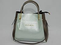 Сумка стиль Michael Kors цвет серебро-бронза, фото 1