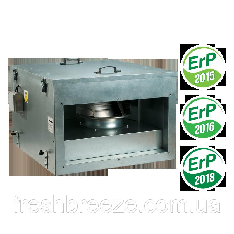 Вентилятор канальный в звуко - и теплоизолированном корпусе с ЕС двигателем Вентс ВКПИ 900х500 ЕС