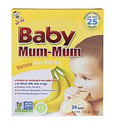 Печенье для прорезывания зубов, Baby Mum-Mum, Hot Kid, банановое