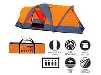 Туристическая палатка BestWay 68003 Traverse 4-х местная. 2-х слойная. Тент. Антимоскитная сетка. Сумка