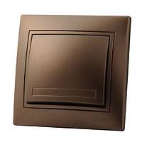 Выключатель LEZARD MIRA светло-коричневый перламутр, 701-3100-100