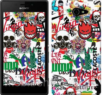 Чехол на Sony Xperia M2 Aqua D2403 Many different logos