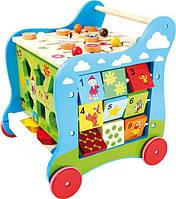Детские интерактивные деревянные ходунки Ecotoys ZA-2118