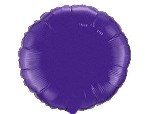 "Фол шар мини Flexmetal 9""/22см Круг металлик фиолетовый (ФМ), фото 2"