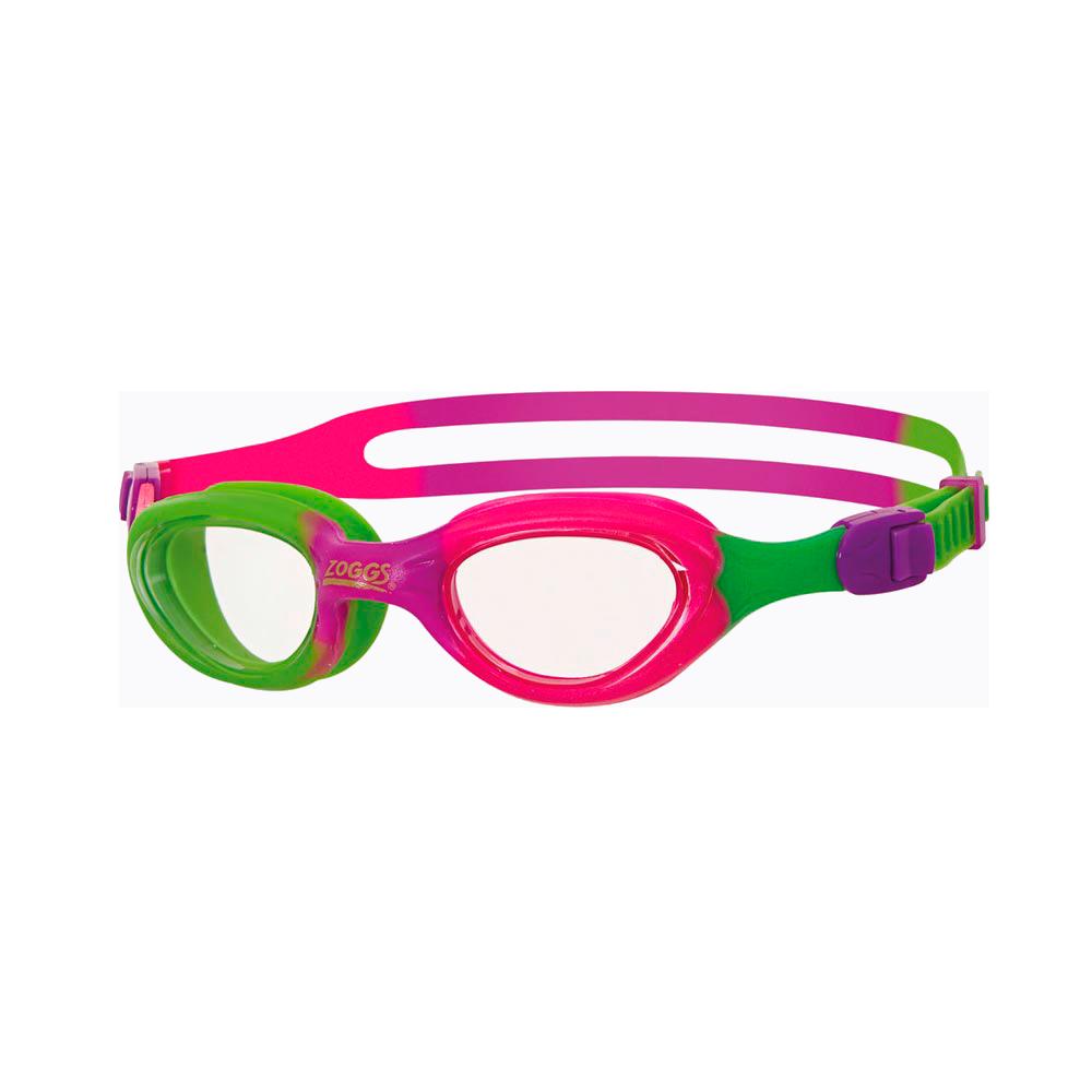 Очки для плавания детскиеZOGGS Little Super Seal Clear/Lime&Purple (BB)