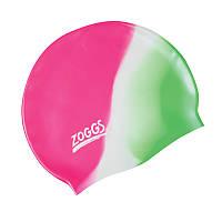 Шапочка для плавания ZOGGS Silicone Cap Plain Pink/White/Green (BB)