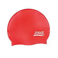 Шапочка для плавания ZOGGS Silicone Cap Plain Red (BB)