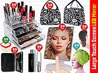8пр. Настольное зеркало для макияжа Large Led Mirror в наборе (органайзер для косметики,сумка и д.р)