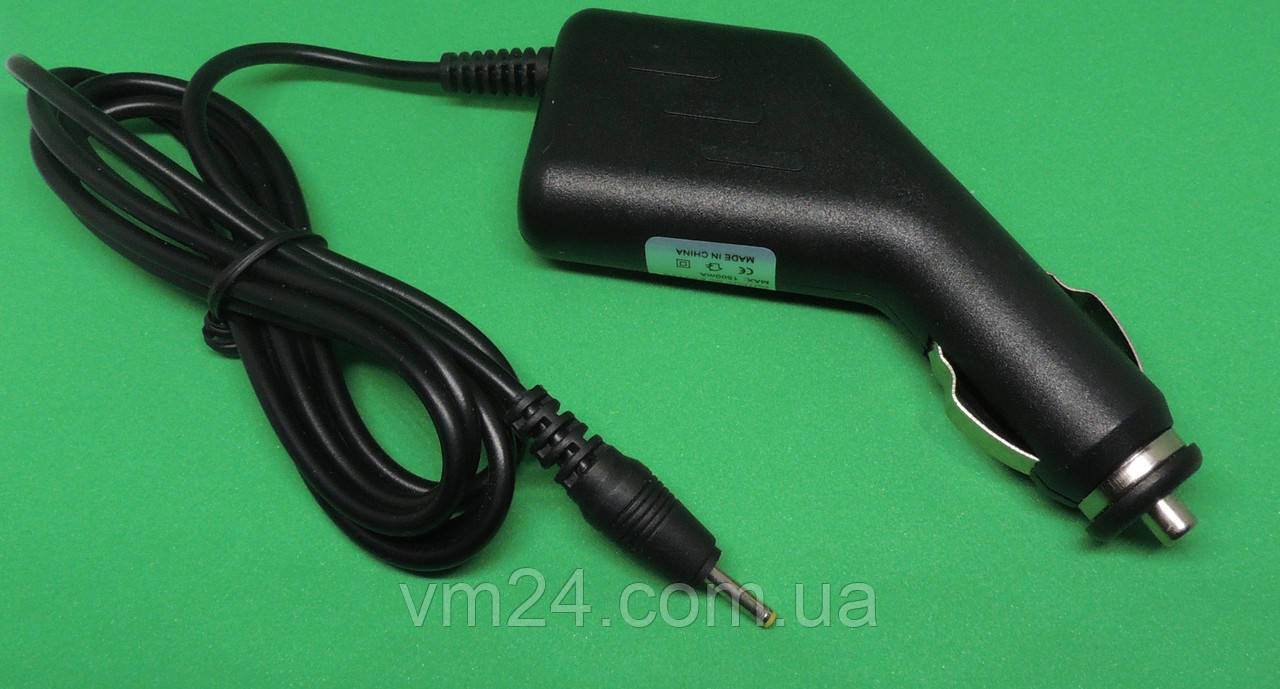 Зарядка автомобильная  для планшета  12V, 1,5A (2.5x0.7mm)