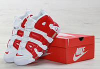 Кроссовки Nike Uptempo реплика ААА+ (нат. кожа) размер 41-45 белый (живые фото)