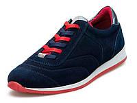 Замшеві кросівки чоловічі демісезонні сині Мида 110719-250