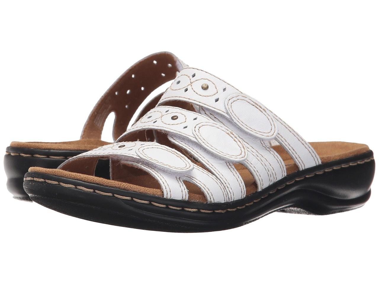 Сандали/Вьетнамки (Оригинал) Clarks Leisa Cacti Q White Leather