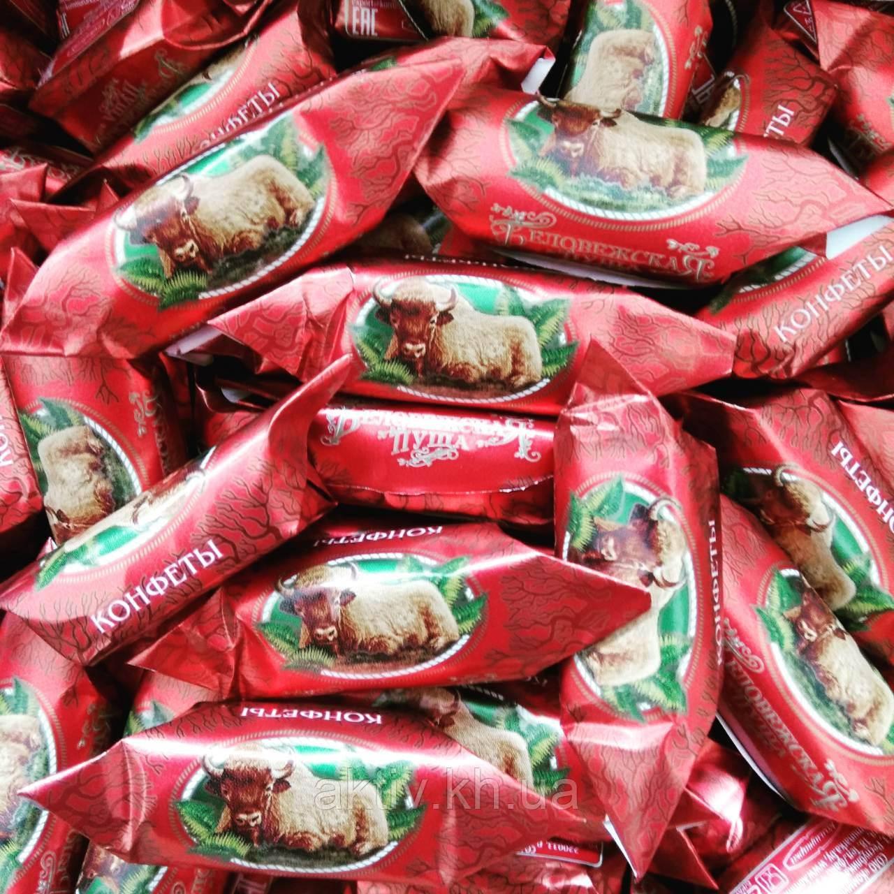 """Шоколадні цукерки,,Біловезька пуща""""фабрики Комунарка"""