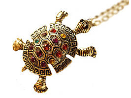 Кулон Черепаха  Золотой