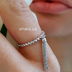 Серебряное кольцо с кисточкой - Брендовое кольцо APM Monaco с кисточкой серебро 925 - Кольцо АПМ Монако