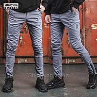 Штаны карго мужские серые джоггеры Jogger Cargo Zipp 2.0 Grey Хлопок 3ecef0e9f9e93