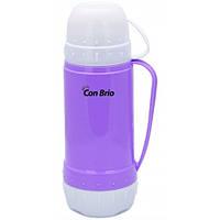 Вакуумный термос со стеклянной колбой Con Brio (355-CB purple)