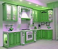 Кухня в зеленых оттенках