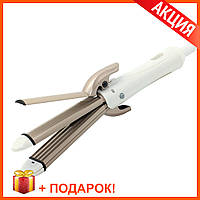 Плойка для волос Gemei GM-2962 4 в 1 Стайлер Выпрямитель + Подарок! ОРИГИНАЛ