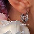 Моносерьга на одно ухо серебряная - Моносерьги серебро, фото 3